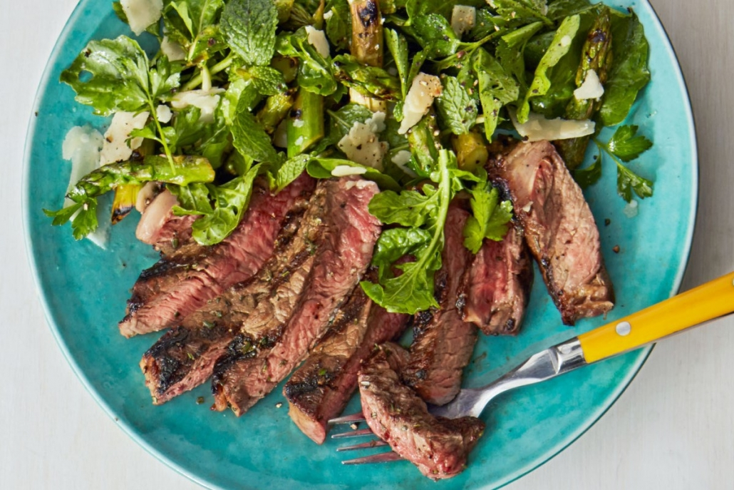 beef keto salad